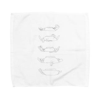 ゆめみるぶたのルキンフォー Towel handkerchiefs