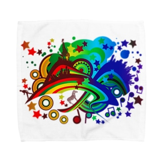Over_The_Rainbow Towel handkerchiefs