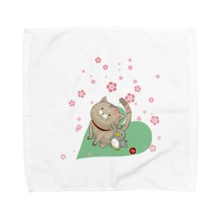 もぐ&ジュリ Towel handkerchiefs