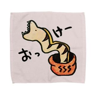 おっけー ウツボ(ピンク) Towel handkerchiefs