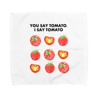 トマトデザイン「埒が明かない」 Towel handkerchiefs