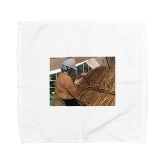茅職人に私はなる、茅吉の営業にそのうちなる♪ Towel handkerchiefs