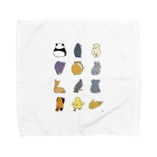 どうぶつのせなかA Towel handkerchiefs
