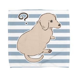 見返り美犬 Towel handkerchiefs