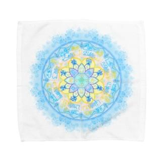龍体フトマニ図 Towel handkerchiefs