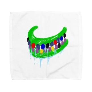 呪いの召喚獣シリーズ(はっぴぃカラオケ入れ歯) Towel handkerchiefs