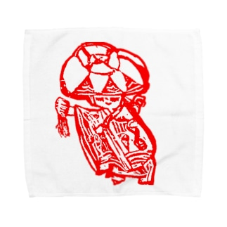 めんそーれ沖縄赤花 Towel handkerchiefs
