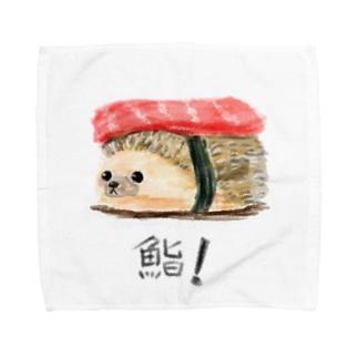 喰えないハリネズシ Towel handkerchiefs