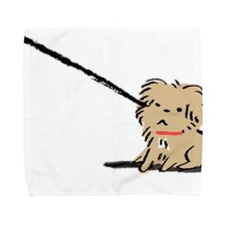 こぐま犬てんすけ拒否ポーズ Towel handkerchiefs