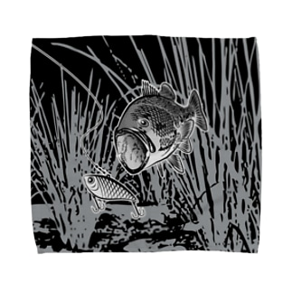 BLACK BASS2_FB_FK Towel handkerchiefs