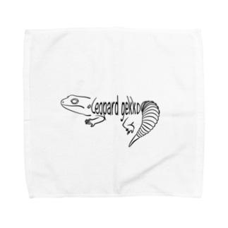 レオパードゲッコーロゴグッズ Towel handkerchiefs