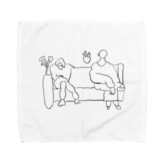 微妙な距離感 Towel handkerchiefs