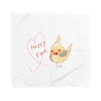 オカメ Happy time Towel handkerchiefs