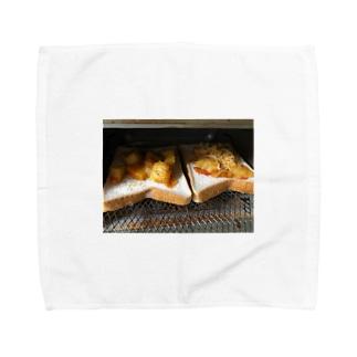 トースト ピザ Towel handkerchiefs