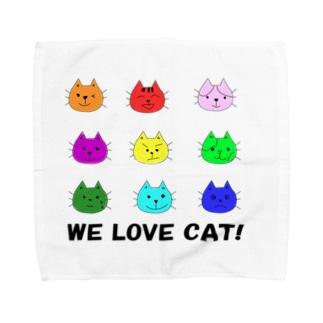 WE LOVE CAT (猫) Towel handkerchiefs