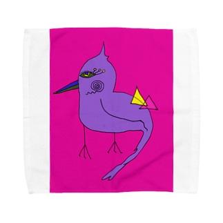鳥のパーピー Towel handkerchiefs