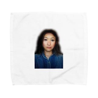 謎の美女 Towel handkerchiefs
