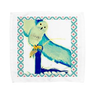 とにかく★フクロウ。 Towel handkerchiefs