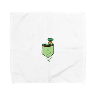 つちのなかからにんじんちゃん Towel handkerchiefs