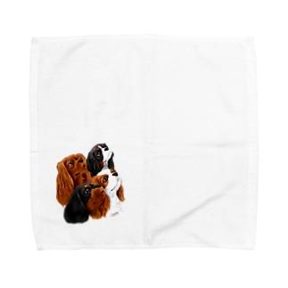 キャバリア№08 4Colors Towel handkerchiefs