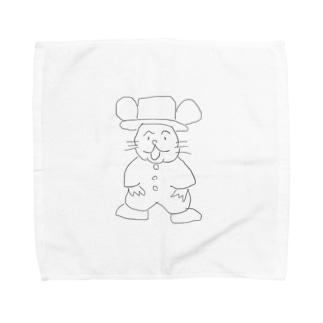 ゆるいネズミキャラ、チュー吉 Towel handkerchiefs