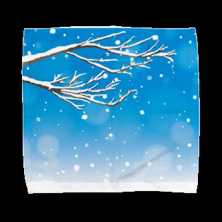 わたのはらの雪は降りつつ Towel handkerchiefs