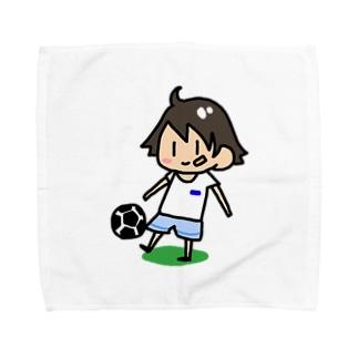 サッカー少年 Towel handkerchiefs