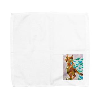 泣きたい日もあるコケねこさん Towel handkerchiefs