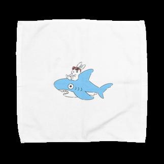 どんぐり商店のいなばのしろうさぎチャン Towel handkerchiefs