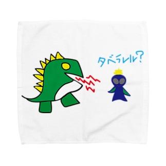 宇宙人うんちの恐竜と宇宙人うんち Towel Handkerchief