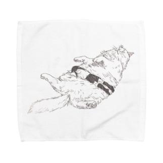 もふねこ Towel handkerchiefs