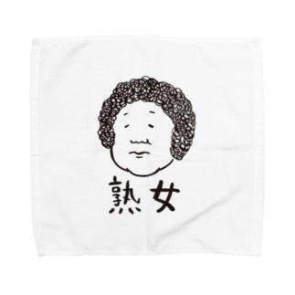 熟女(黒字) タオルハンカチ
