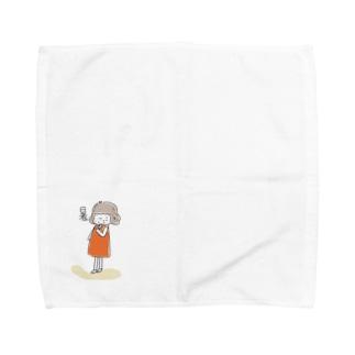 暑ガール Towel handkerchiefs