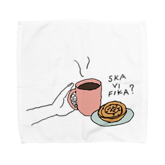 Ska vi fika?_Pink+Mint Towel handkerchiefs