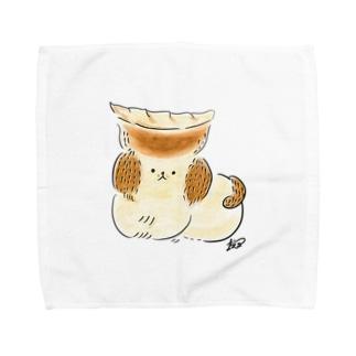 焼き餃子犬 Towel handkerchiefs