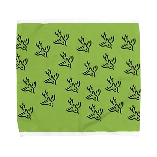 スズメの群れ Towel handkerchiefs