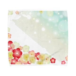 難波津に Towel handkerchiefs