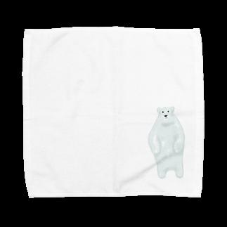 シーアペイントのしろくま Towel handkerchiefs