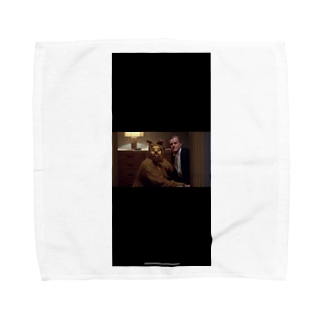 黒い犬男 Towel handkerchiefs