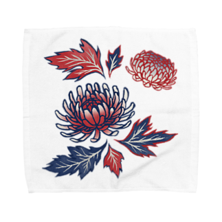 akaneyabushitaの【日本レトロ#03】菊 Towel handkerchiefs