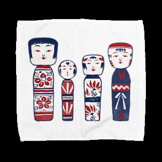 akaneyabushitaの【日本レトロ#06】こけし Towel handkerchiefs