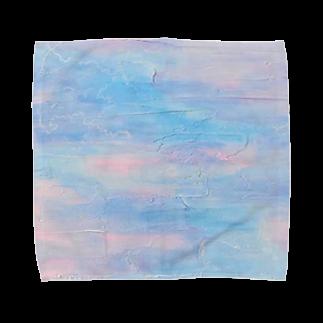 immrの白い春風 Towel handkerchiefs