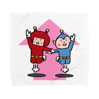 宇宙人パピプペポ Towel handkerchiefs