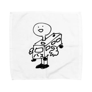 バスを着てしまった人 Towel handkerchiefs