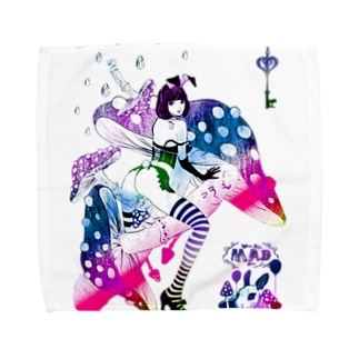MAD ALICE 電池式キノコの国のアリス バニー型 Towel handkerchiefs