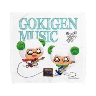 #ひつじです ごきげんミュージックギター&ベース Towel handkerchiefs
