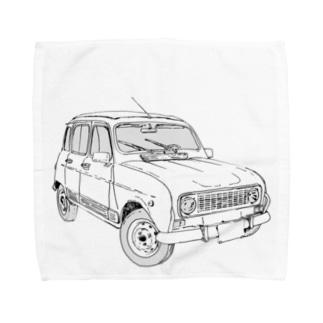 RENAULT 4GTL(BK) Towel handkerchiefs