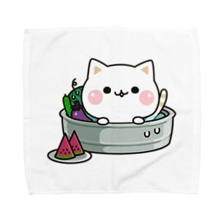 気づかいのできるネコ 夏ver. Towel handkerchiefs