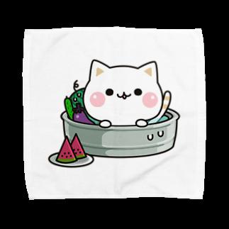 DECORの気づかいのできるネコ 夏ver. Towel handkerchiefs