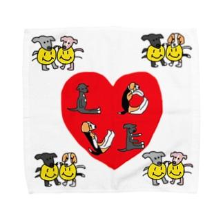 ククたんラッキーLOVEタオル Towel handkerchiefs